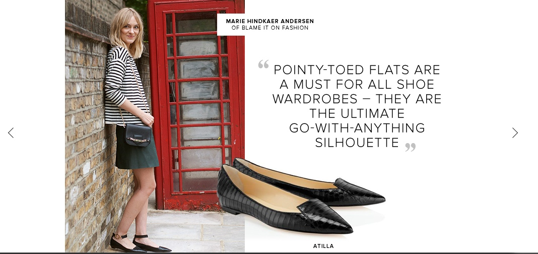 Jimmy Choo flat shoes story 2